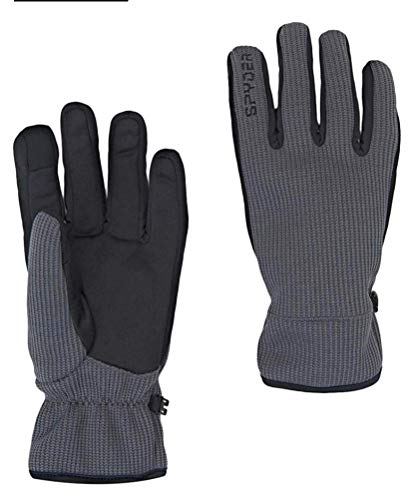 Spyder Core Winter Gloves ~ Conductive Material for Touch Screen Devices (M, Grey)