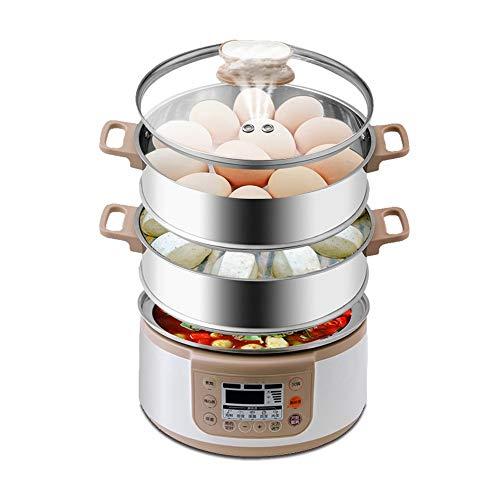 vaporera Eléctrica de múltiples funciones Vapor, Hot Pot Olla, de gran capacidad de los hogares puede ser reservado for múltiples capas de vapor eléctrico del vapor, la olla interior se puede quitar