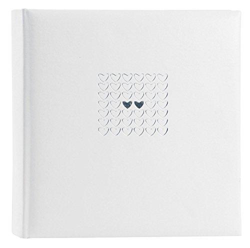 Goldbuch Hochzeitsalbum, Elegance, 30 x 31 cm, 100 weiße Seiten mit Pergamin-Trennblättern, Kunstleder mit Silberprägung, Perlmutt, 31450