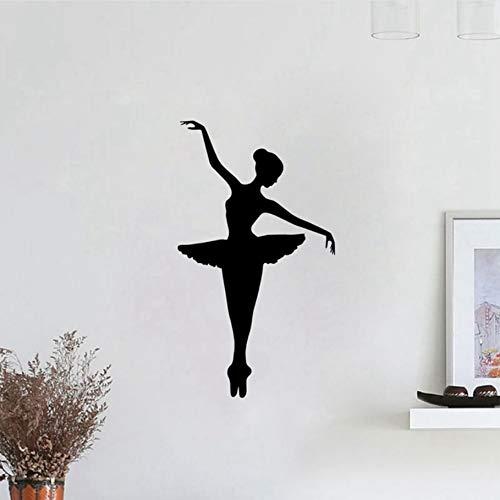 Cmhai Ballerina Vinyl Muursticker Verwijderbare Vinyl Kwekerij Kids Slaapkamer Muursticker Meisje Dansende Ballet Grafische Muur Mural Maat 33 * 57Cm