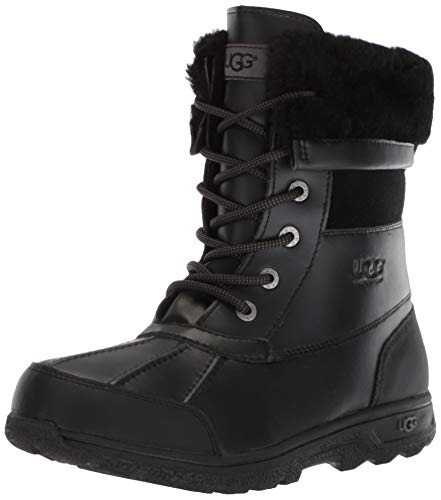 UGG Kids' Butte II Cwr Boot, Black, 3 M US Little Kid