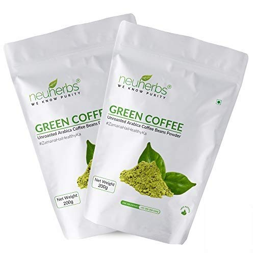 Neuherbs Green Coffee Beans powder For Weight Loss: 200 G, (Pack Of 2)