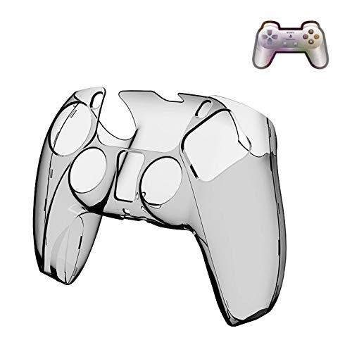 Game-Controller PS5 Kristallhülle, ultradünne Griffschale, harter PC, transparente Schutzhülle für Playstation 5 Zubehör, Schwarz