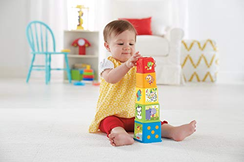 Fisher-Price Cubes Découvertes, jouet pour bébé à empiler et à emboîter, 6 mois...