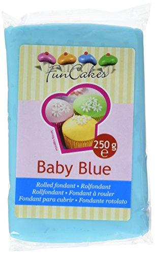 FunCakes Fondant Baby Blue: Baby Blau Farbe, Einfach zu Verwenden, Glatt, Elastisch, Weich und Schmeidig, Perfekt zum Dekorieren von Torten, Halal, Koscher und Glutenfrei. 250 g