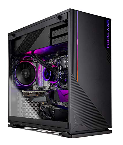 Skytech Azure Gaming PC Desktop - AMD Ryzen 5 3600X 3.8GHz, RTX 3070 8GB, 16GB DDR4 3200, 1TB Gen4 SSD, B550 Motherboard, 650W Gold PSU, Windows 10 Home 64-bit, Black