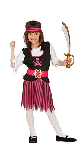 Guirca Piraten Kostüm für Mädchen Gr. 110-146, Größe:140/146