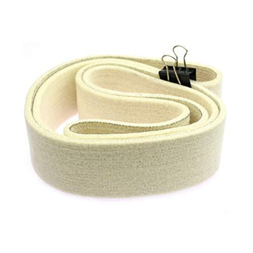 Banda de lijado de fieltro de lana de 1 pieza 686/1220/1829/2000 x 50 mm para esmalte de espejo de tubería de acero inoxidable