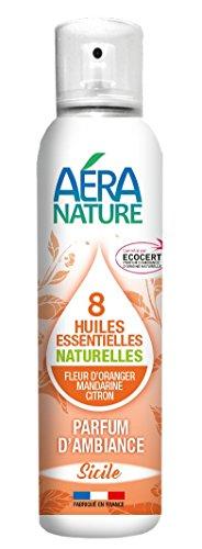 """AERA NATURE : Parfum d'ambiance naturel, contrôlé ECOCERT, aux 8 huiles essentielles""""SICILE"""", 125ml, by Laboratoire Columbus Natura"""