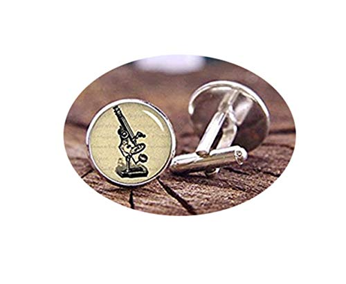 Death Devil Art Picture Cuff Links,Vintage Microscope Cufflinks, Microscope Cuff Links, Wedding Cufflinks, Steampunk Cufflinks, Trending Cufflinks, Best Gifts, Microscope,Gift of Love