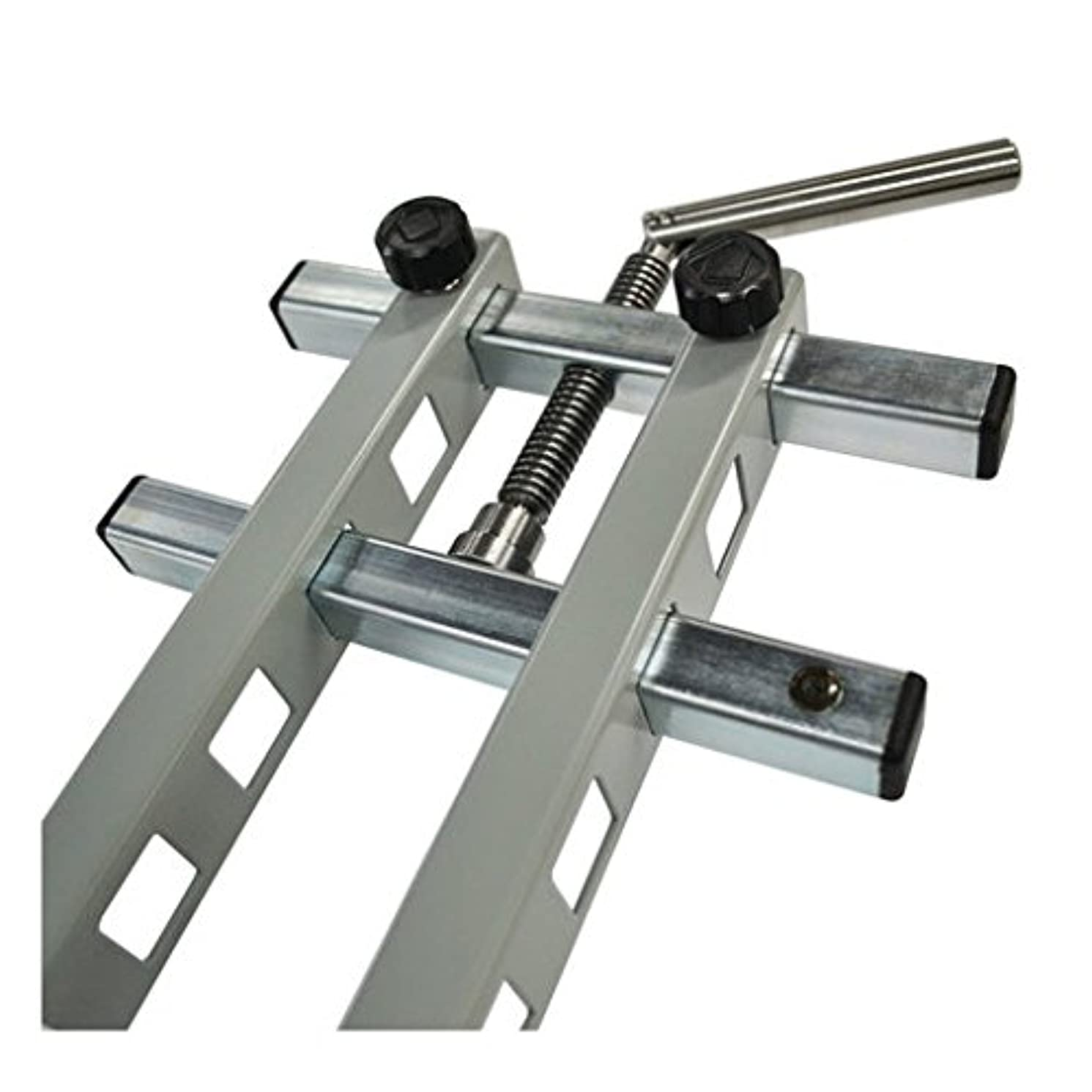 Set of Two (2) DAMSTOM Professional Woodworking Panel Clamps for Flat Panel Gluing -- GRAY