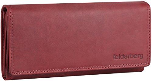 Lea große Washed-Vintage Damen-Geldbörse aus geöltem Echt-Leder, Farbe:Red