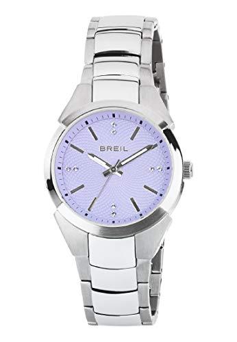 Orologio BREIL donna GAP quadrante violetto e bracciale in acciaio, movimento SOLO TEMPO - 3H QUARZO