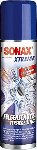 SONAX XTREME FelgenSchutzVersiegelung (250 ml) bildet einen effektiven Schutz gegen Bremsstaub, Schmutz, Salz & Wasser mit Easy-to- Clean-Effekt | Art-Nr. 02501000