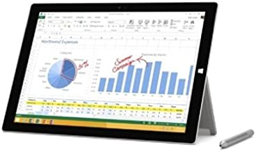 """Microsoft Surface Pro 3 with WiFi 12"""" Touchscreen 128GB Tablet PC Featuring Windows 10 Pro Operating System"""