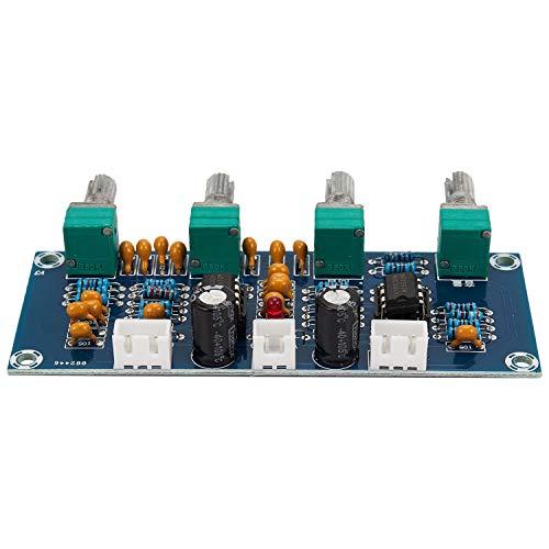 SNOWINSPRING Preamplificador de Preamplificador de Placa de Tono NE5532 con Ajuste de Volumen de Graves Agudos Controlador de Tono de Preamplificador para Placa de Amplificador