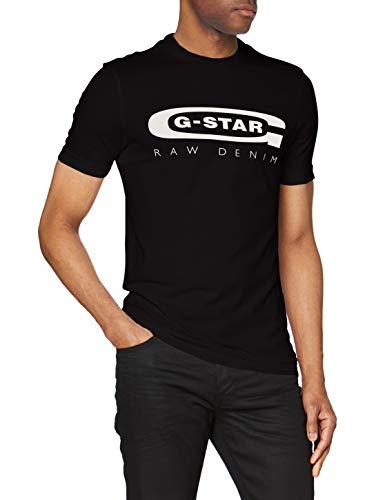 G-STAR RAW Graphic Logo 4 Camiseta, Negro, XX-Large (Talla del Fabricante:) para Hombre
