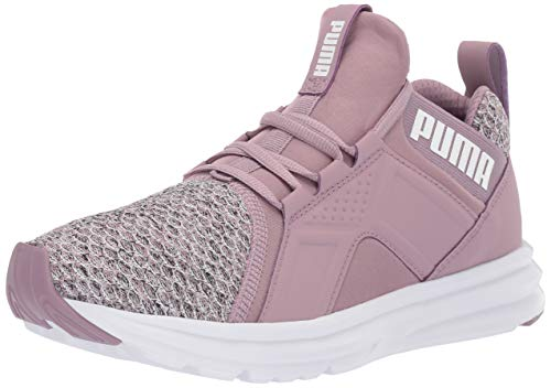PUMA Women's Zenvo Shoe, Elderberry-puma Whit, 6 M US