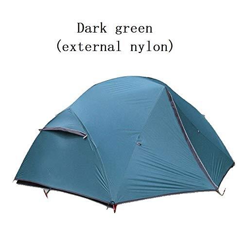 AOGUHN tent - Outdoor camping 2 personen lichtgewicht tent 210T20D gecoate siliconen dubbele dubbele aluminium paal vier seizoenen kampeertent