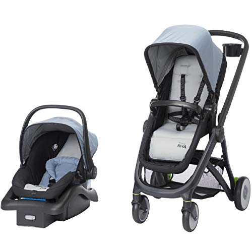 Safety 1st Riva 6-in-1 Flex Modular Travel System with Onboard 35 FLX Infant Car Seat and Base, Stormy Weather