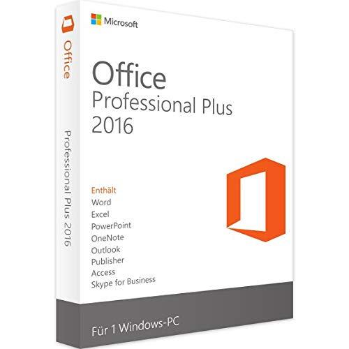 Microsoft Office 2016 Pro Plus 32/64 Bit (Clé de licence et téléchargement)