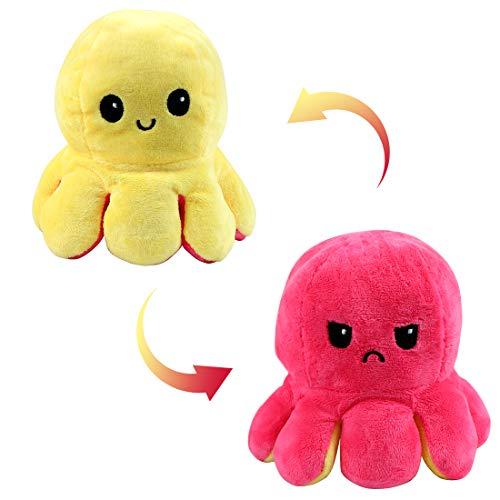 Zaloife Octopus Plüschtier, süße Mini Plüschtiere, Zeigen Sie Ihre Stimmung mit Emotionen für Kinder Jungen Mädchen (L)