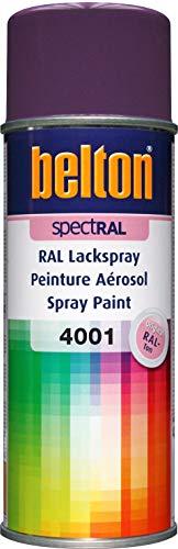 RAL 4001 LILA ROUGE Mat (BELTON) (Bombe peinture 400 ml) - bombe aerosol reparation peinture carrosserie voiture teintes standrard et RAL (reference couleur constructeur 150 ou 400 ml)