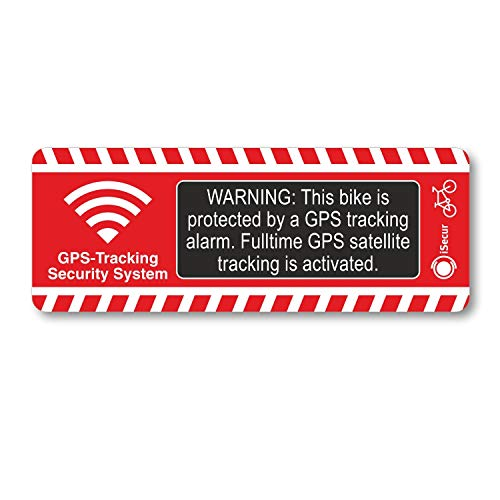 2er Set Fahrrad-Alarm-Aufkleber GPS Alarm Tracking System I hin_285 I 8 x 3 cm I extra starker Kleber I für Rennrad Mountainbike E-Bike Pedelec