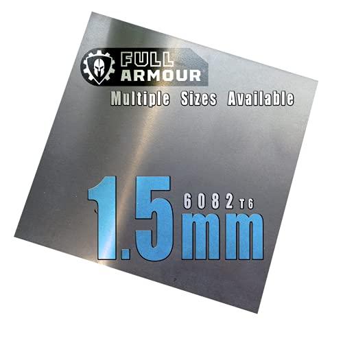 Piastra in alluminio da 1,5 mm – Grado 6082 T6… 100 mm x 100 mm (10cm x 10cm)