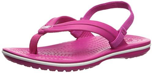 Crocs Unisex-Kinder Crocband Strap Flip Zehentrenner, Pink (Candy Pink 6x0), 28/29 EU