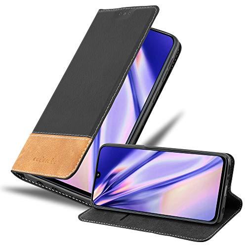 Cadorabo Custodia Libro per Samsung Galaxy A40 in Nero Marrone - con Vani di Carte, Funzione Stand e Chiusura Magnetica - Portafoglio Cover Case Wallet Book Etui Protezione