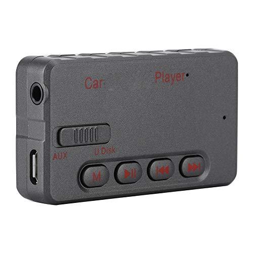 Mini draagbare bluetooth-ontvanger V5.0 wireless audio muziek adapter A2DP met USB + AUX audio-uitgang voor thuis- en auto-audiosysteem, 8 g.