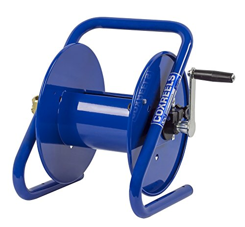 "Coxreels 112-3-150-CM Caddy-Mount Portable Hose Reel, 4,000 PSI, Holds 3/8"" x 150' Length Hose, Hose Not Included,Blue"