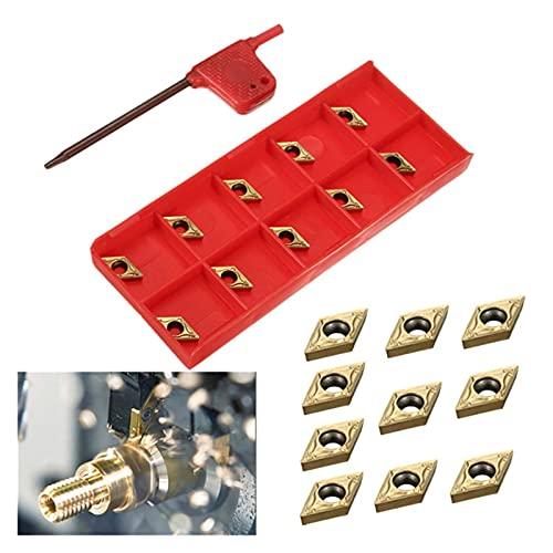 Cortador de fresado de superficie 10 piezas / DCMT070204 US735 DCMT21.51 Inserciones de carburo con llaves para herramientas de torno