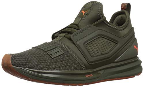 PUMA Unisex-Child Ignite Limitless 2 Sneaker, Forest Night-Firecracker, 4 M US Big Kid