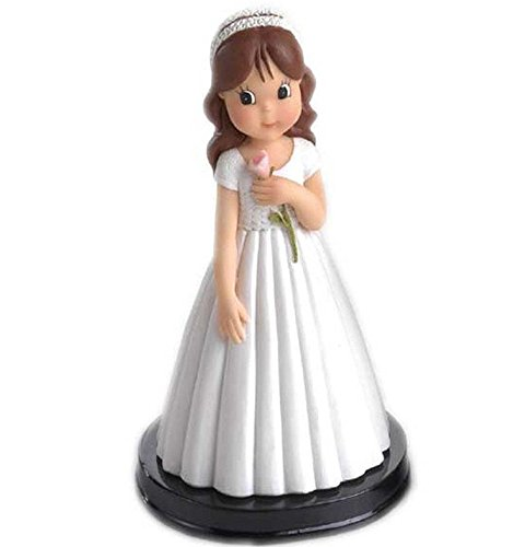 Figura comunión niña tarta GRABADA PERSONALIZADA figuras para pastel