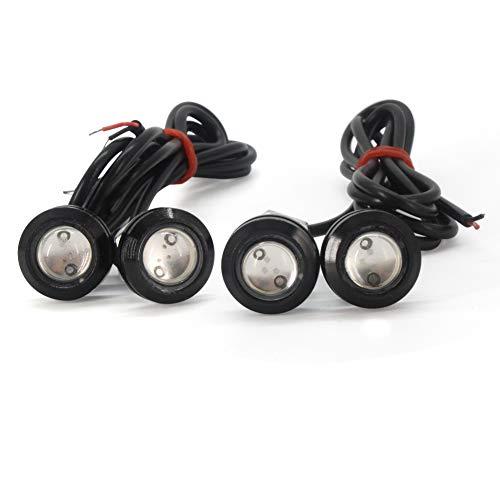 Eagle Eye LED,12V 9W Bleu DRL Daytime Running Phares antibrouillards Eagle Eye Feux de recul circulation stationnement 18mm pour moto voiture et pare chocs (4 pièces)
