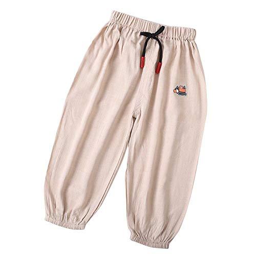 Baby lange broek bloomers peuter zachte katoen linnen pluderbroek zomer losse broek voor kinderen jongens meisjes leeftijd 1-3 100# 2