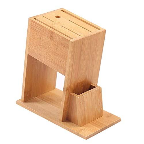SCDGYG Cuchillo de bambú - Titular de la Herramienta de la Cocina del hogar del Estante del Estante de Almacenamiento en Rack de Cuchillo de Cocina Estante