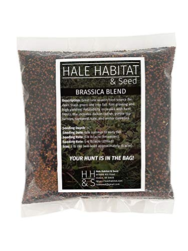 Hale Habitat & Seed Brassica Blend Food Plot Seed Mix, 1/2 Acre, Highly...