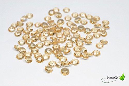Creativery 100 Dekosteine Diamanten 12mm (Gold 687) // Deko-Steine Diamanten 1,2 cm Streudeko Tischdeko Steine Diamonds Kristall Hochzeit Streuteile