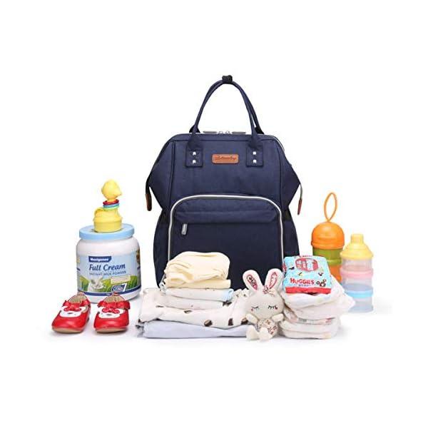 41QhwzeDT4L. SS600  - Wemk Mochilas de Pañales y Biberones, Mochila de Cambio Bebé con Bolsillo Térmico para Biberones, Material Impermeable…