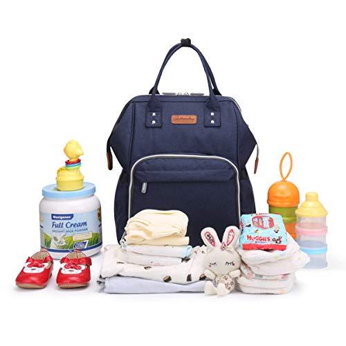 41QhwzeDT4L - Wemk Mochilas de Pañales y Biberones, Mochila de Cambio Bebé con Bolsillo Térmico para Biberones, Material Impermeable…