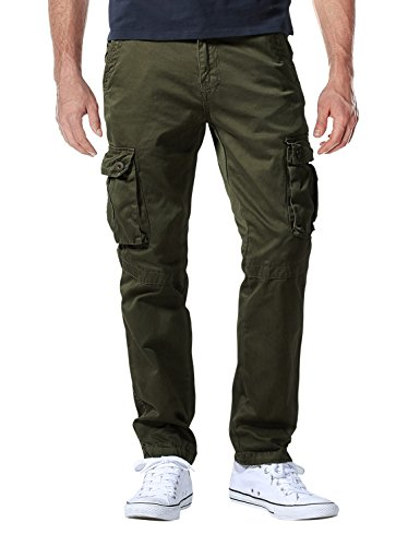Match Men's Casual Wild Cargo Pants Outdoors Work Wear #6531(32,Army Green)