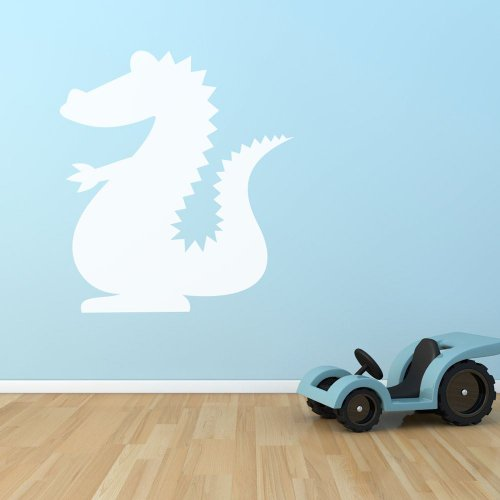 Supertogether Dragon whiteboard voor de kinderkamer, speelkamer, muurstickers, wit