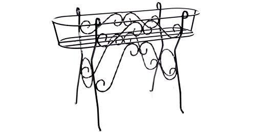 Sbalchiero Fioriera in Ferro battuto Porta Cassette Art. 25.074-100% Made in Italy -