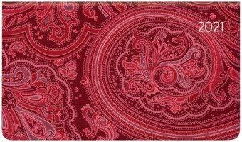 Ladytimer Pad Arabian Pattern - Taschenkalender quer - Kalender 2021 - Alpha Edition-Verlag - Eine Woche auf 2 Seiten - Buchplaner mit Lesebändchen und Platz für Notizen - Format 16 cm x 9 cm