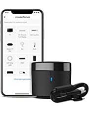 BroadLink RM4 mini-slimme afstandsbediening en sensorkabel Set RM4 mini S, Universele IR-afstandsbedieningshub met Temperatuur vochtigheid monitor USB-kabel, compatibel met Alexa, Google Home, IFTTT