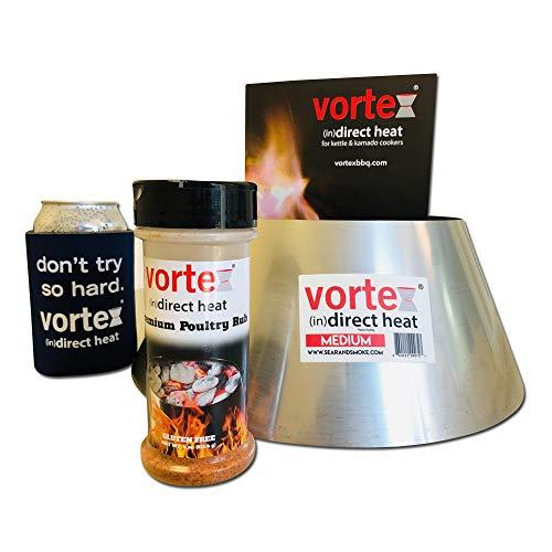 Genuine Medium BBQ Vortex GIFT PACK for wsm Kettle 22 26.75 Big Green Egg kamado - 3 PC