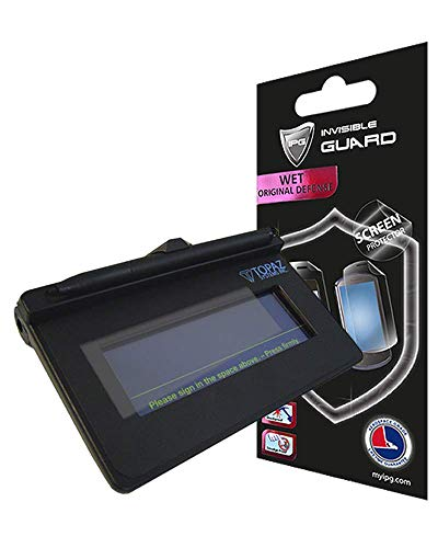 IPG for Topaz signature pads Screen Protector SigLite T-S460 / T-S460-BT/T-S461 / T-L460 / T-LBK460 / T-LBK460-BT/TM-LBK460 3 UNITS Free Replacement Clear Bubble Free screen protection